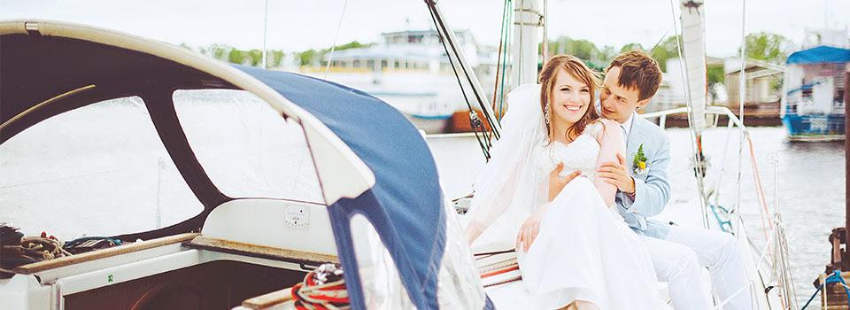 Свадебные фотосессии на яхте, катере, корабле