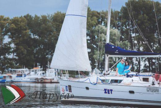 Лазурная съемка в стиле «Love story» на яхте «Zet»